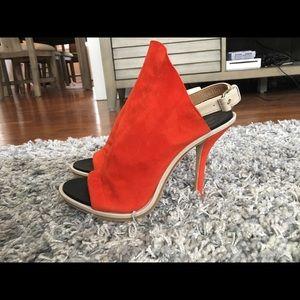 Balenciaga Peep-Toe Heeled Sandals
